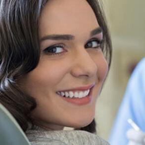 Brunette women smiling