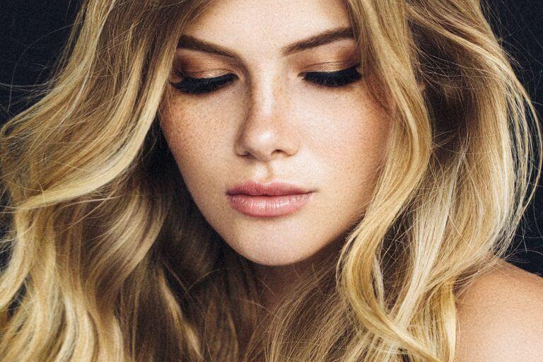 Attractive blonde women